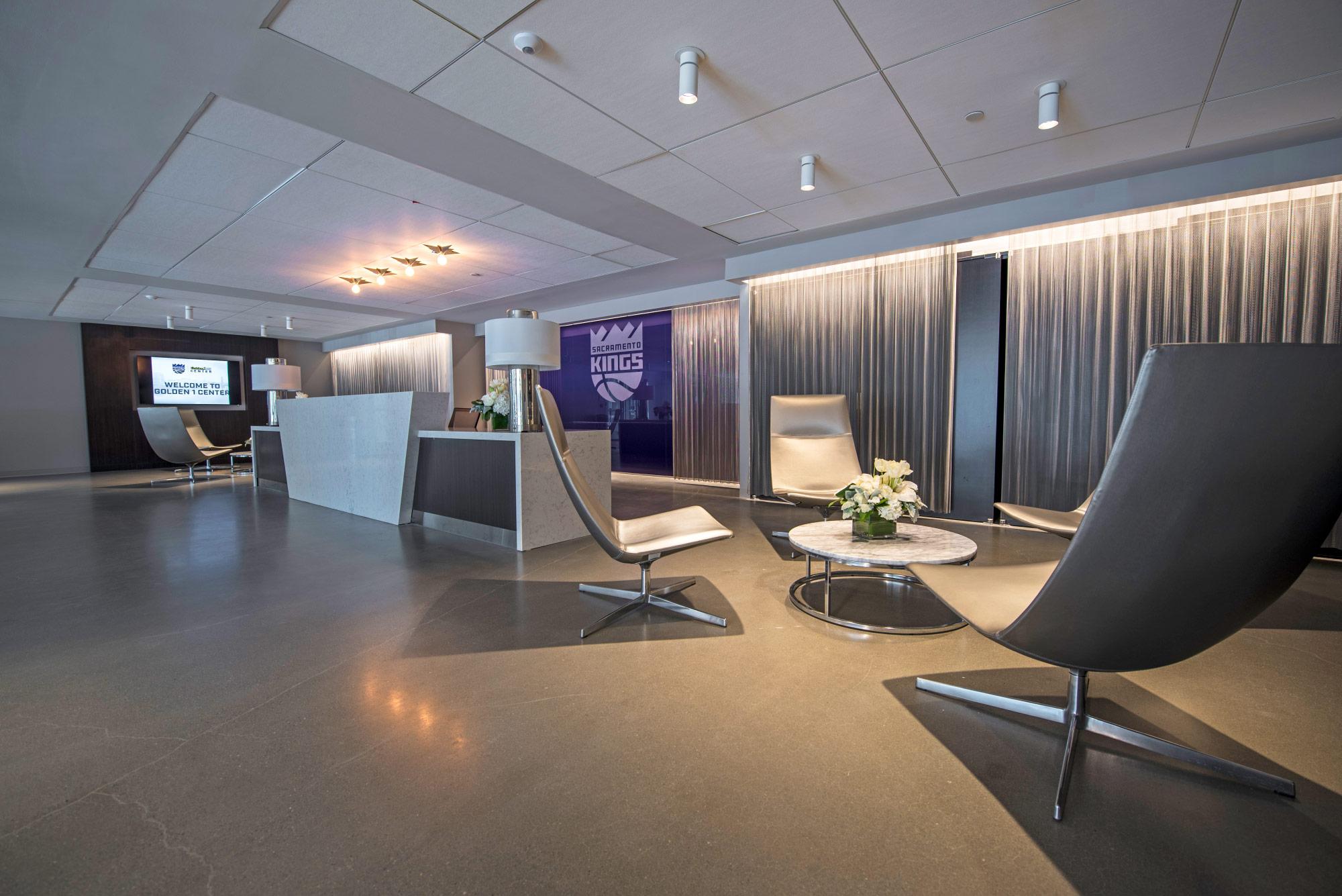VIP entrance lounge area