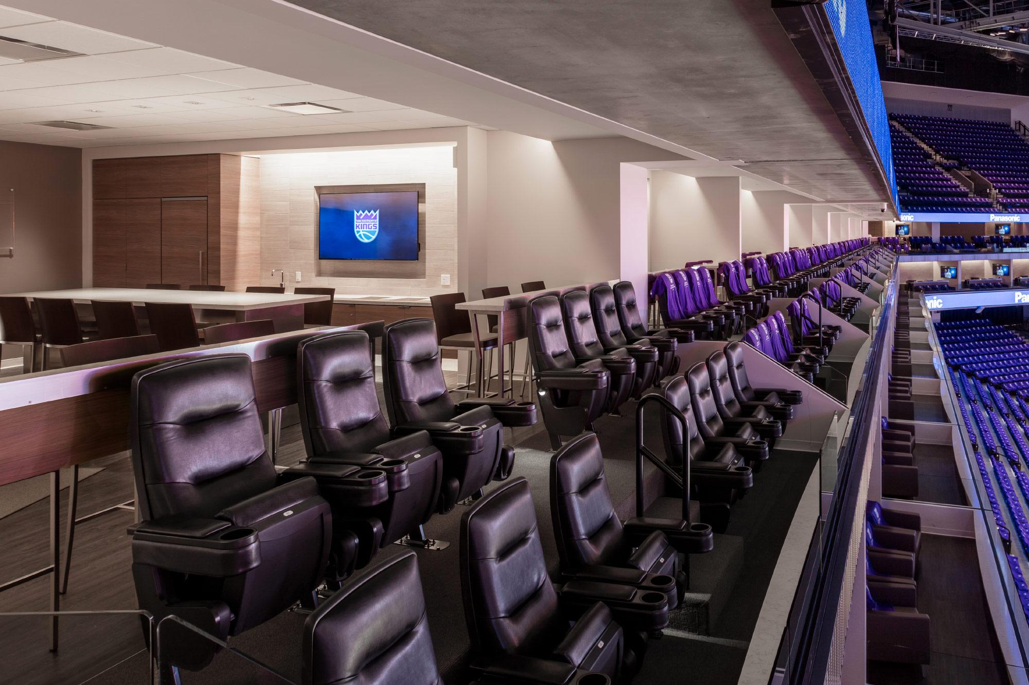 Luxury suite seating